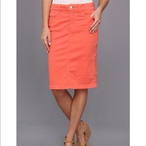 NYDJ Emma Coral Slimming Twill Pencil Skirt Sz 8